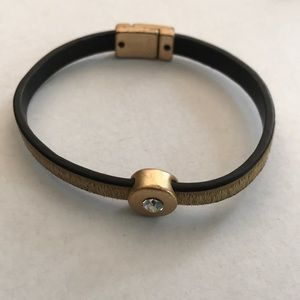Jewelry - Funky metal leather and horsehair bracelet